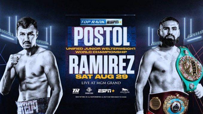 Виктор Постол VS Хосе Рамирес онлайн трансляция